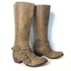 Gianni Bini Distressed Boots Size 8.5